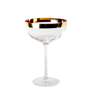 Coup Glass With Gold Rim