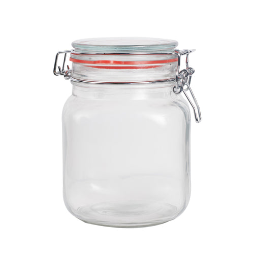Md Glass Lidded Jar