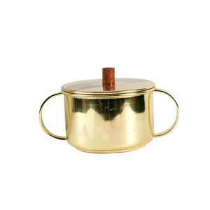 Sm Gold Metal Pot