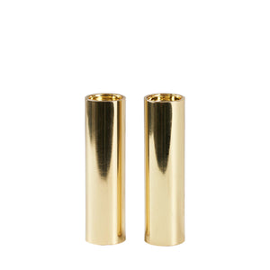 Sm Slim Gold Salt And Pepper Shakers