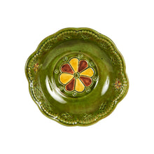Md Green Bowl With Pattern