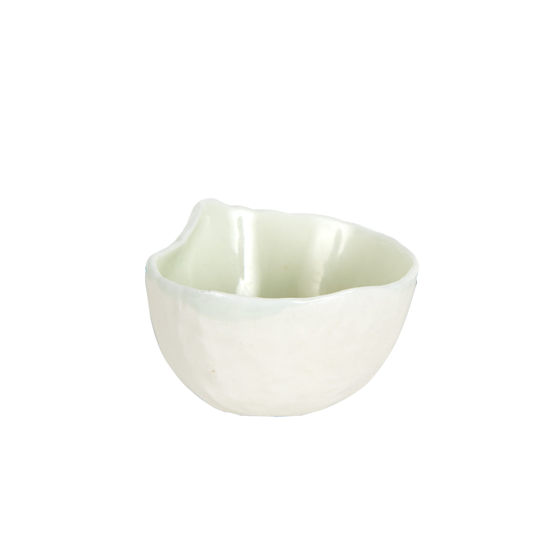 Sm Light Green Glossy Bowl With Matte White Outside