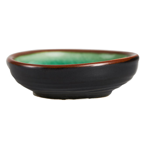 Sm Green Dish With Dark Exterior
