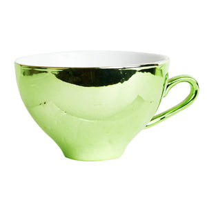 Green Metallic Tea Cup