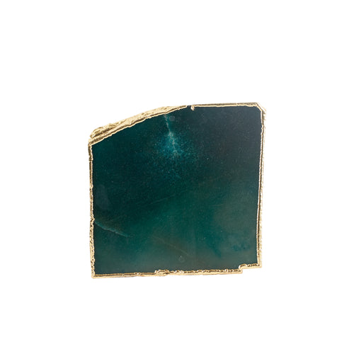 Dark Green Coaster With Gold Edging