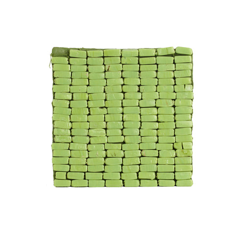 Green Beaded Coaster