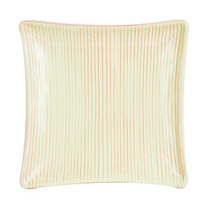 Green Striped Square Platter
