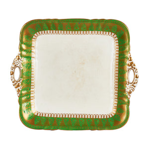 Green And Gold Square Platter