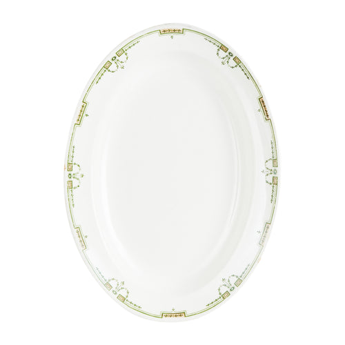 White And Green Platter