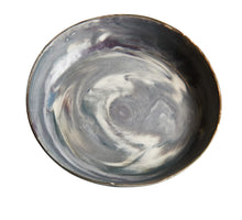 Grey Swirled Shallow Bowl