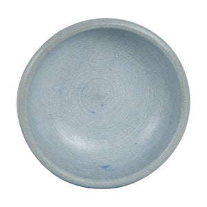 Sm Light Grey Pinch Bowl With Black Markings