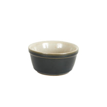 Sm Dark Grey Bowl With Cream Inside