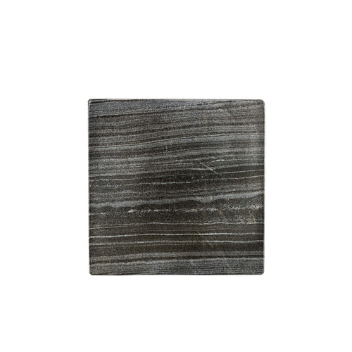 Grey and Black Square Marble Coaster