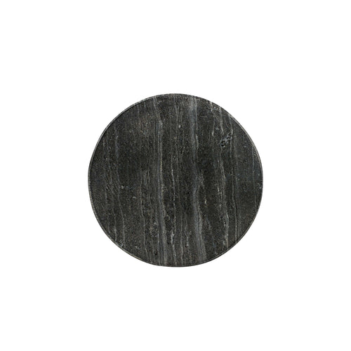 Grey and Black Circle Marble Coaster