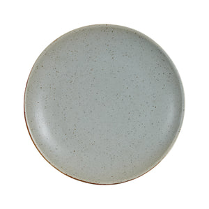 Md Grey Speckled Plate With Dark Rim