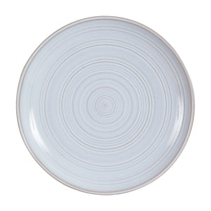 Md Light Grey Plate With Circular Spiral Pattern