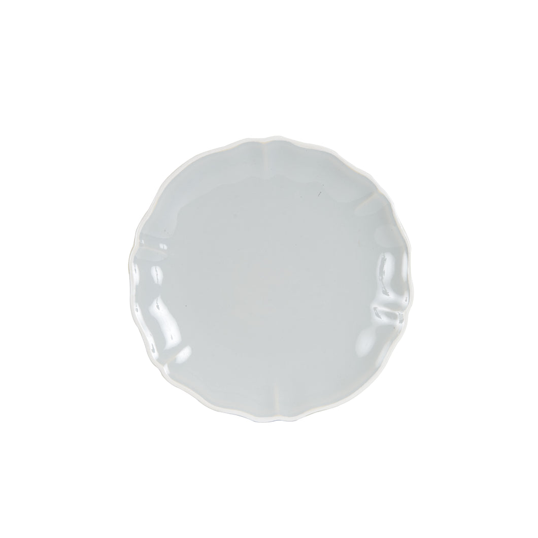 Md Light Grey Plate With White Rim