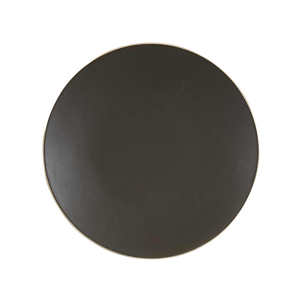 Md Dark Grey Plate With Brown Under Tone