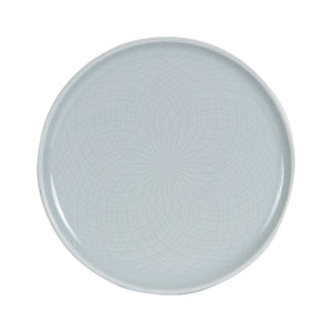 Sm Light Grey Plate With Design