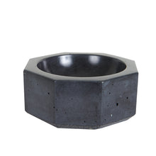 Md Black Octagonal Concrete Bowl