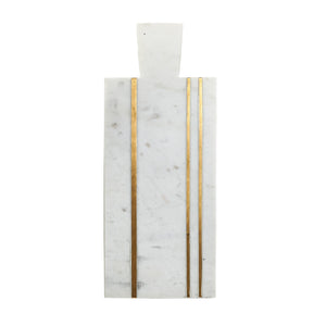 White and Gold Marble Cutting Board