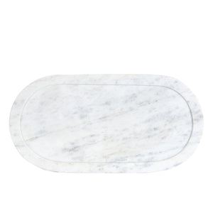 White Oval Marble Board