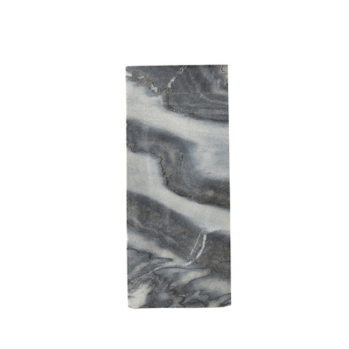 Two Toned Grey Marble Board With a Wood Base