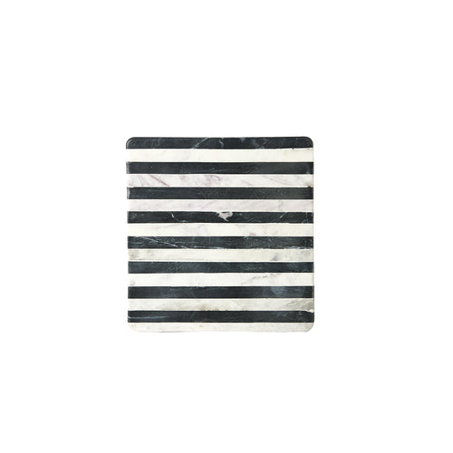 White And Black Square Marble Board