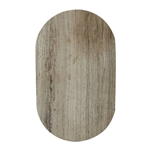 Oval Grey Marble Board