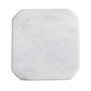 White Square Marble Coaster