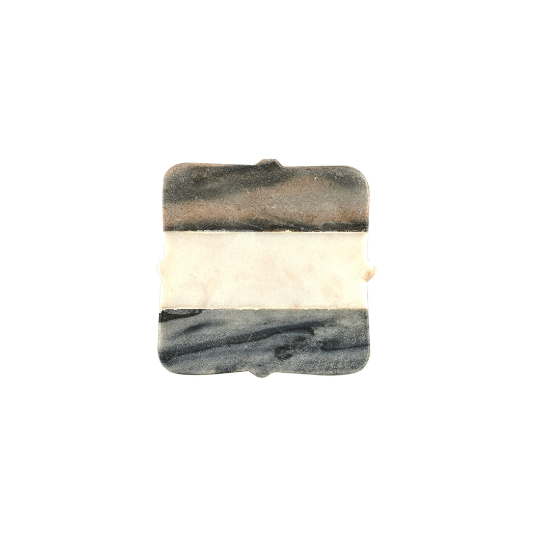 Grey, Black And White Marble Coaster