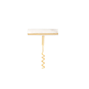 Marble Cork Screw With Gold Details