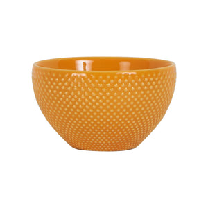 Sm LightOrange Bowl With Dotted Texture