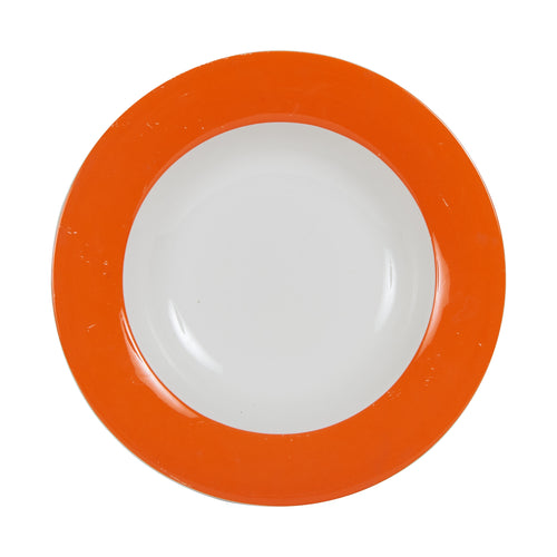 Lg Bright Orange Soup Bowl