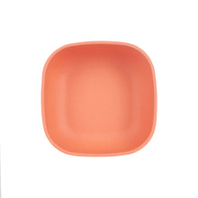Md Light Orange/Red Square Bowl