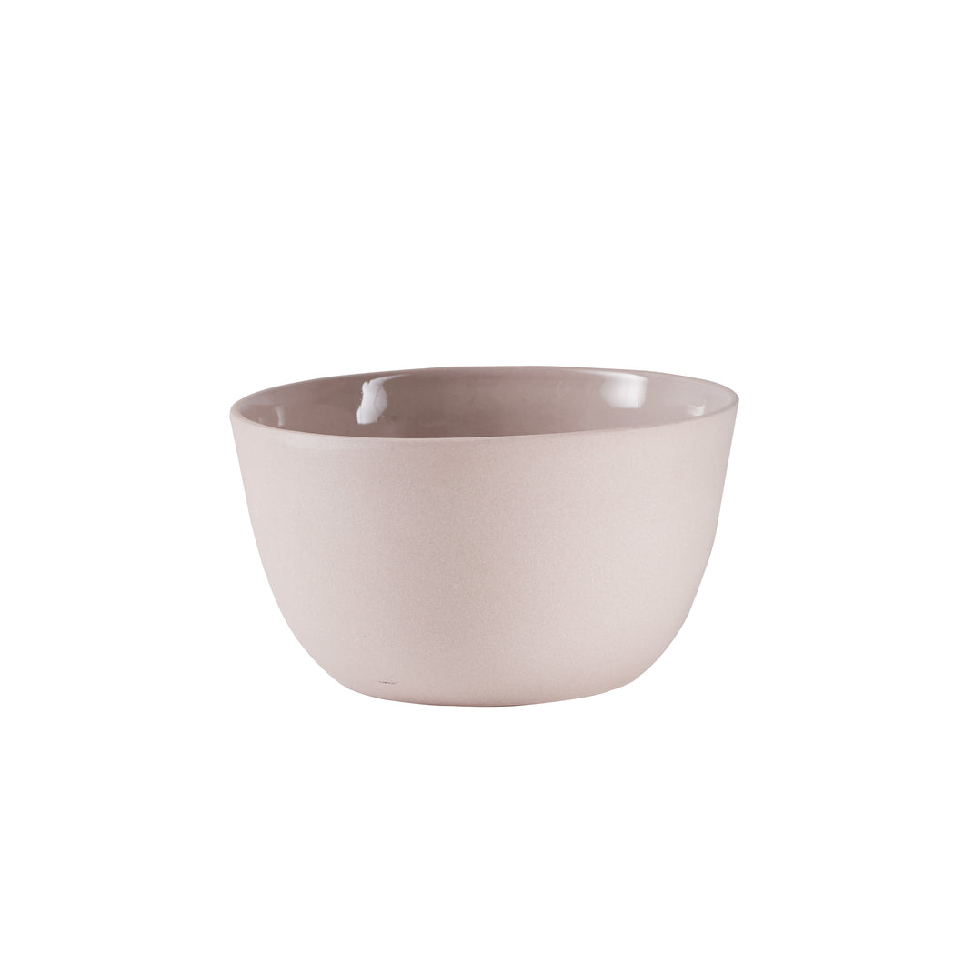 Sm Light Pink Bowl With Matte Exterior