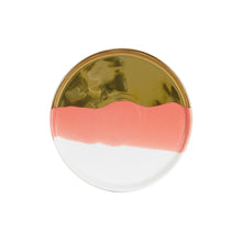 Md Pink Shallow Plate With Gold and White
