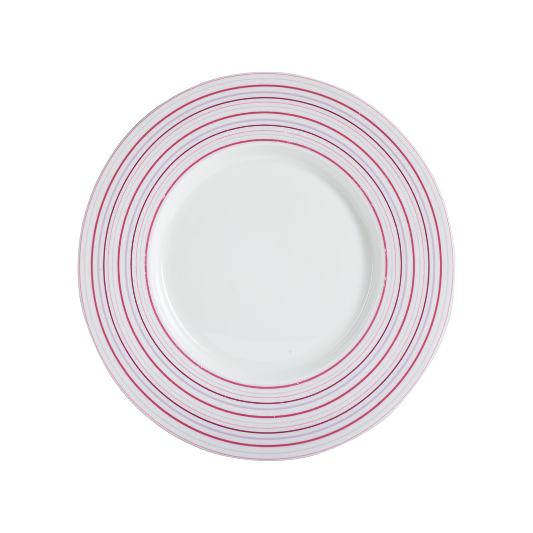 Md Plate With Pink and Purple Stripes