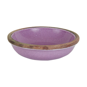 Sm Purple Bowl With Natural Rim