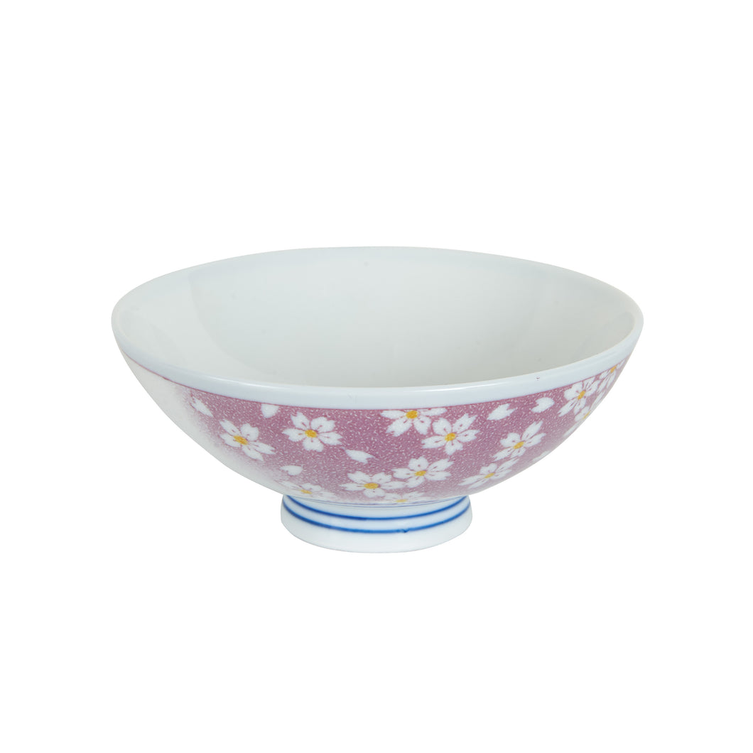 Sm Purple Bowl With Flower Print