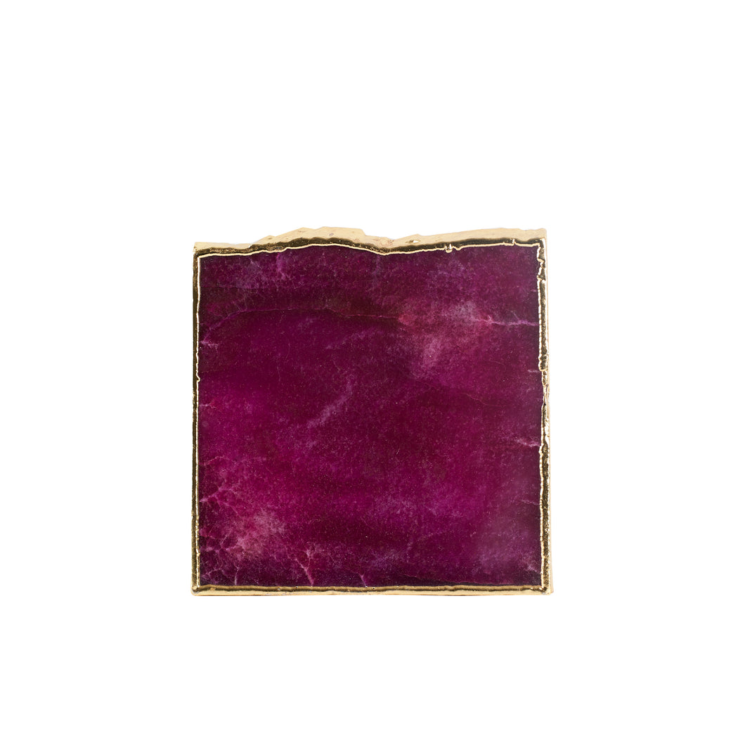 Purple Coaster With Gold Edging