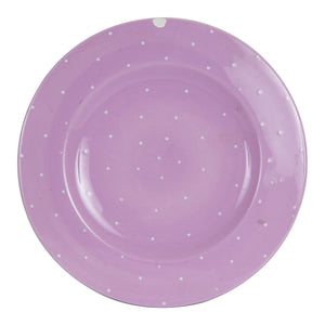 Md Light Purple Polka Dot Plate