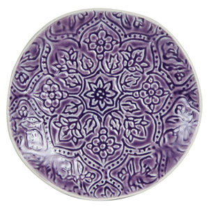 Md Purple Plate With Pattern