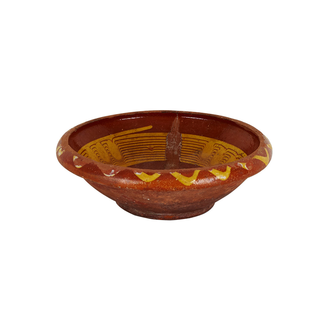 Md Red Patterned Bowl