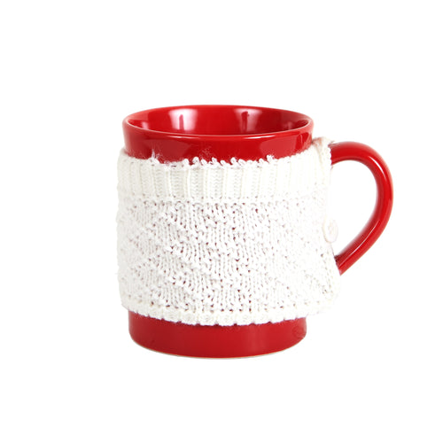 Red Mug With White Coat