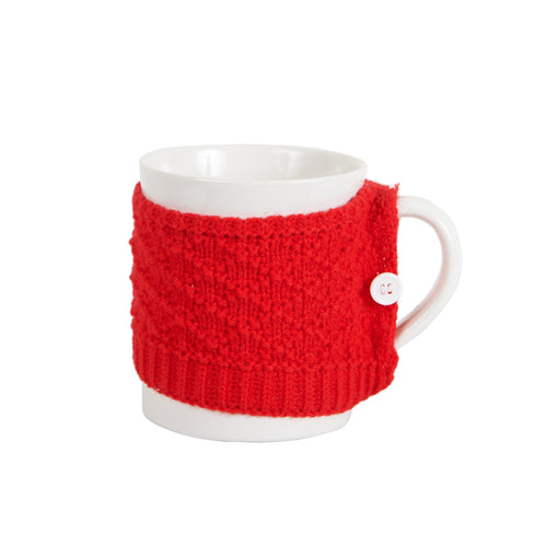 White Mug With Red Coat
