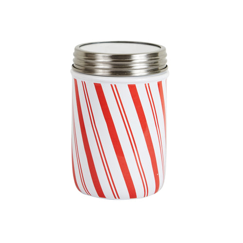 Md Red and White Stripped Jar