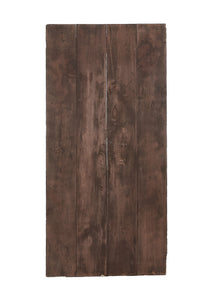 Lg Dark Brown Stained Wood