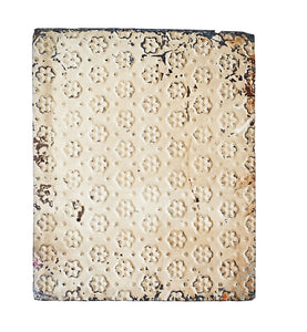Sm Vintage Metal Panel, Weathered Paint