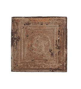 Sm Double-Sided Rusted Metal Ceiling Tile